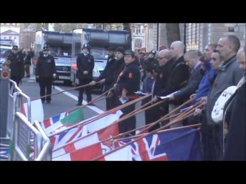 REMEMBRANCE PARADE NATIONAL FRONT 2014 IN LONDON
