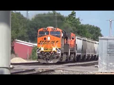 A short time railfanning in Emporia, KS 7/17/16