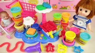 Baby doll and Play doh cake maker toys baby Doli kitchen play