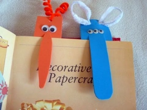 Craft Ideas For Children Monster Bookmark Youtube