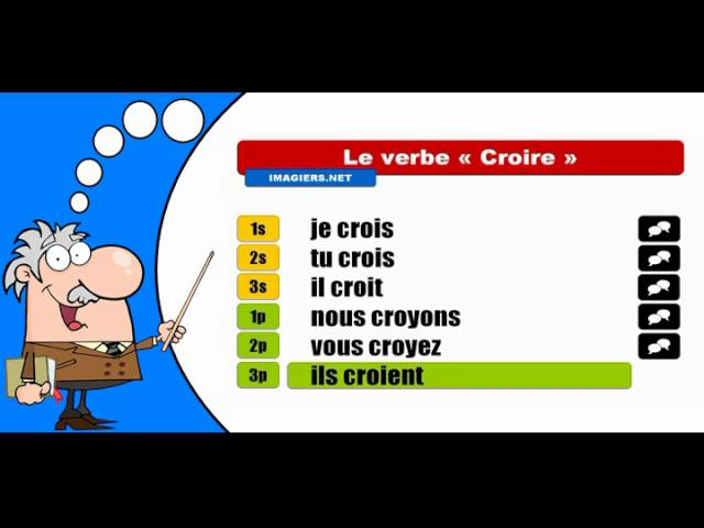 La Conjugaison Du Verbe Croire Indicatif Present Youtube