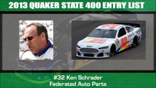 2013 Quaker State 400 Entry List
