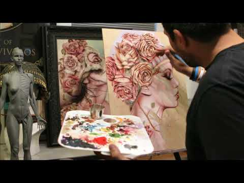 Brian Viveros Studio Visit for Moniker Art Fair 2017