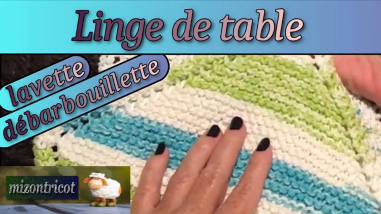TRICOT FACILE - Linge de table point mousse en diagonale 🐑 - YouTube