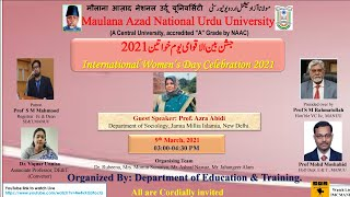 International Women's Day Celebration 2021 |  Department of Education \u0026 Training | MANUU