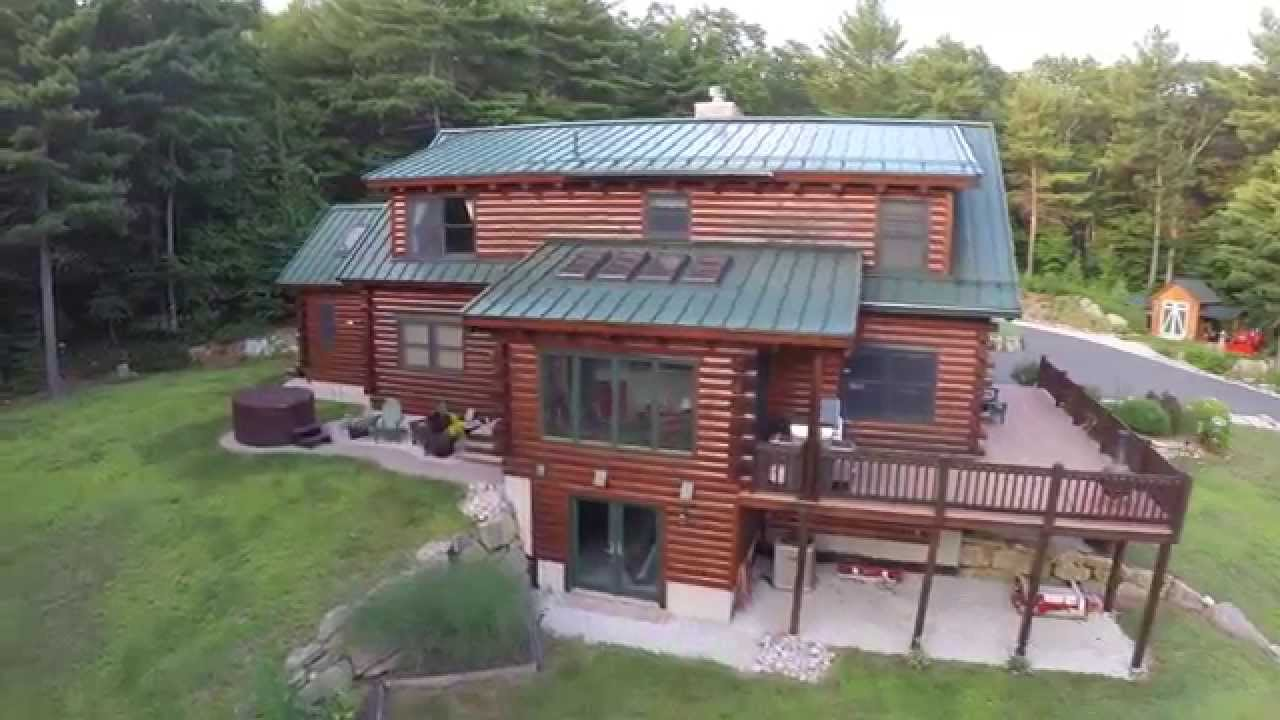 Beautiful Log Home For Sale In Uxbridge Youtube