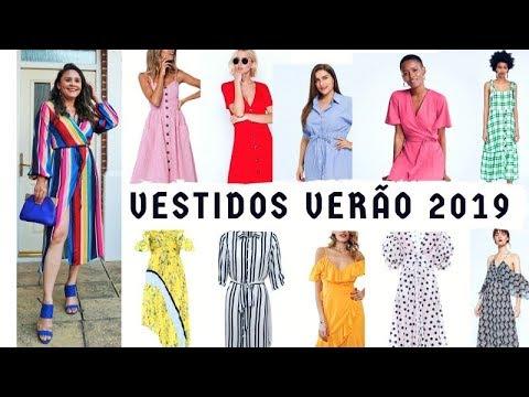 f6473f59f VESTIDOS TENDÊNCIA VERÃO 2019 - 150 MODELOS - YouTube