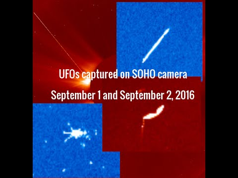 UFOs captured on SOHO camera - September 1 and September 2, 2016