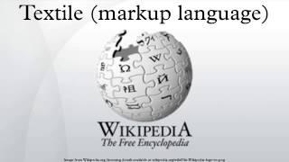 Textile (markup language)