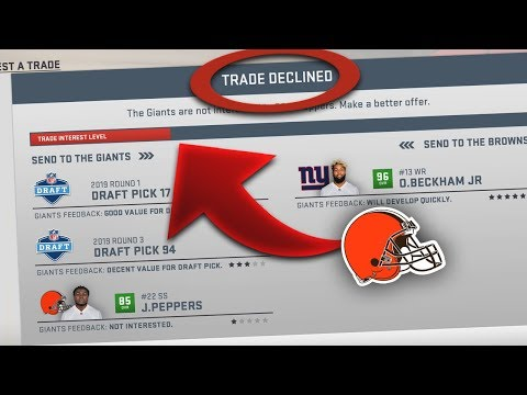 ATTEMPTING REAL LIFE INSANE NFL TRADES in MADDEN!