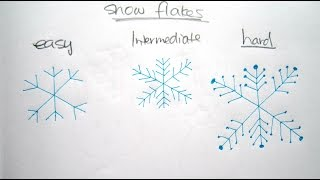 How to Draw Cartoon Snow Flakes 畫卡通雪花 - Easy Drawing Tutorial for Beginners