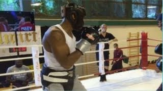 ANTHONY JOSHUA KO's & RETIRES 3-SPARRING PARTNERS IN RUIZ REMATCH CAMP!!
