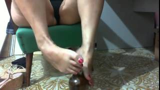 Mature dildo footjob a gives Busty her
