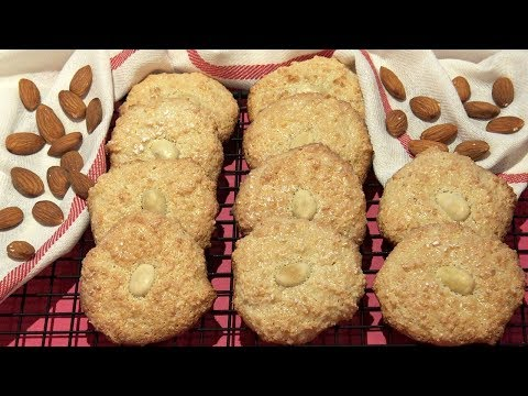 Almond Cookies Recipe Flourless No-Butter Very Easy & Quick