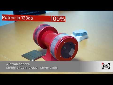 GLADIO Alarma sonora 123db | RSeguridad
