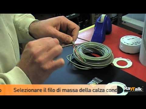Schema Cablaggio Cavo Ethernet : Crimpaggio cavo ftp schermato raytalk video tutorial youtube