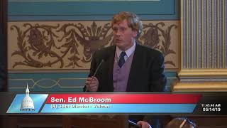 Sen. McBroom speaks in favor of protecting life