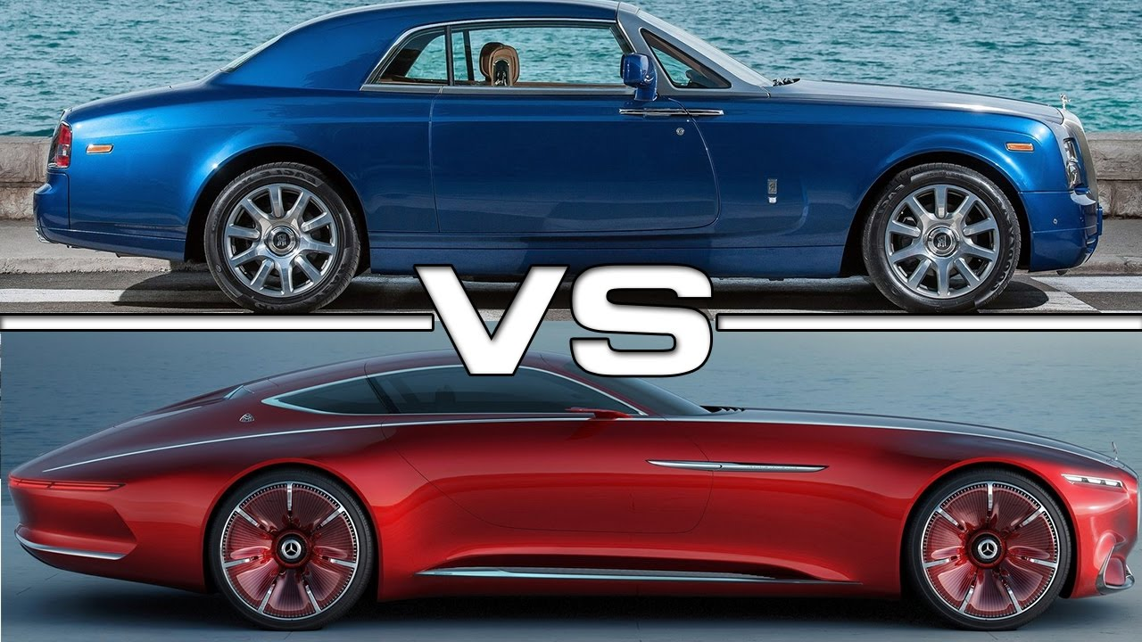 rolls royce phantom coupe vs vision mercedes maybach 6. Black Bedroom Furniture Sets. Home Design Ideas