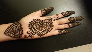 New 3D Wedding Mehndi Design At Home Latest Pakistani 2019  💓💝