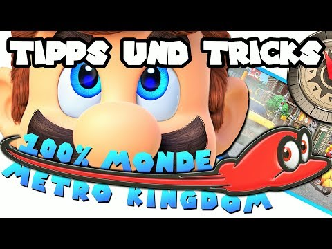 Super Mario Odyssey ► Metro Kingdom 🌛 Monde/Moons 01 - 50 (100% Power-Monde)
