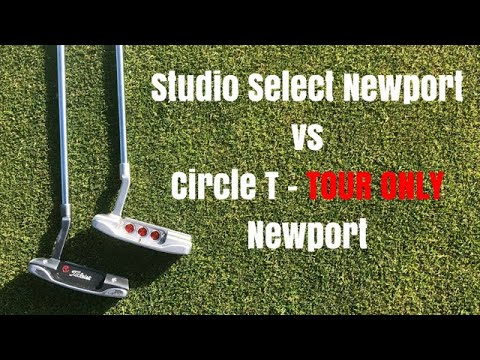Scotty Cameron Circle T Tour Only Putter vs Scotty Cameron Studio Design  2018