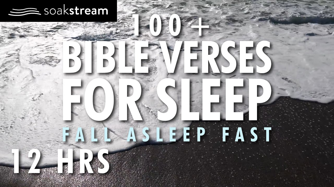ON A BLACK SAND BEACH WITH THE LORD | 100+ Bible Verses For Sleep | Fall Asleep Fast | 12 hours