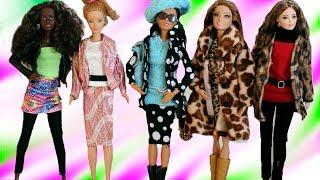 Модная одежда для кукол Барби / ШУБЫ, КИМОНО, КИТАЙСКИЕ ПЛАТЬЯ