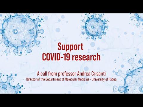 Andrea Crisanti: support Unipd research on Covid-19