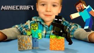 Майнкрафт - игрушки - фигурки из игры - серия 1 - обзор на русском. Minecraft Toys Action Figures.