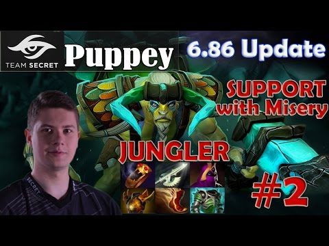 Puppey - Elder Titan Jungler Pro Gameplay | with Misery | Dota 2 MMR #2