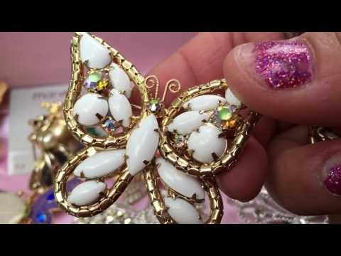 Vintage Rhinestone Butterfly Jewelry Collection