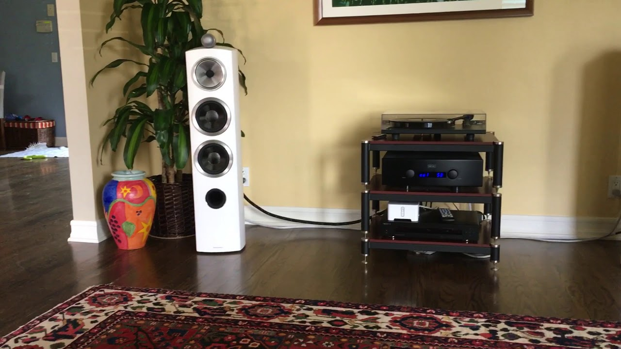 Bowers And Wilkins Speakers >> Hegel H360 + B&W 804 D3 + some great bass and a yellow lab - YouTube