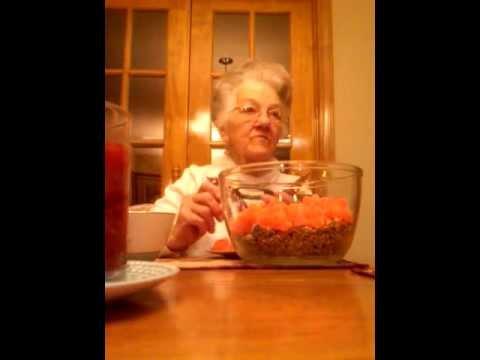 (2) Mamaw Ada~helping me make an Orange Slice Cake :) Christmas 2011 (12/19)