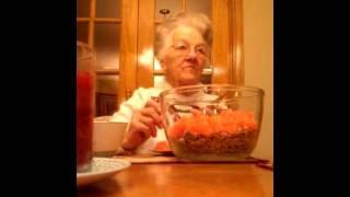(2) Mamaw Ada~helping Me Make An Orange Slice Cake :) Christmas 2011 (12/19)