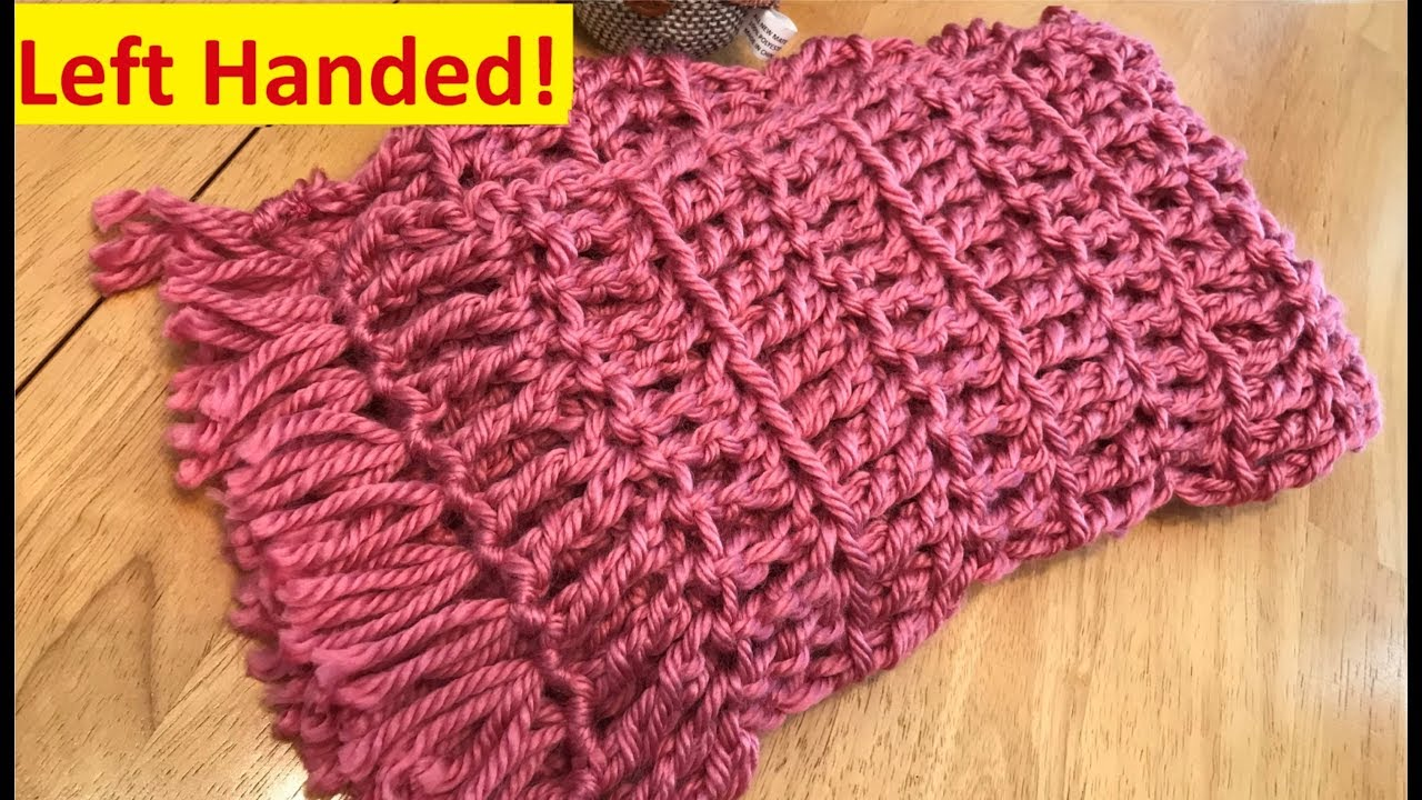 Crochet Scarf Super Fast And Easy Left Handed Youtube