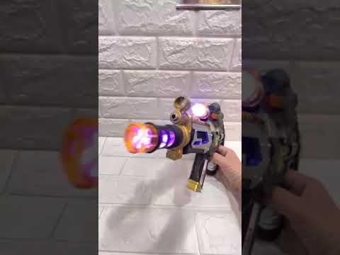戰士聲光短衝鋒玩具槍-金