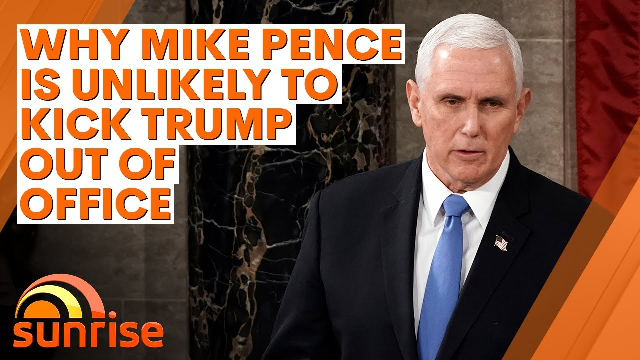 Insider reveals why Mike Pence is unlikely to kick Donald Trump out of office | 7NEWS