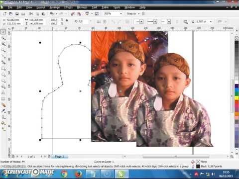 Cara Memotong Gambar Dan Mengganti Background Di Coreldraw Tutorial Belajar Coreldraw Pemula Youtube