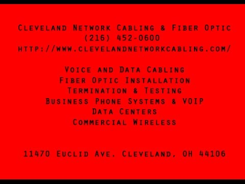 Voice and Data Cabling Contractor in the Cleveland, OH Area