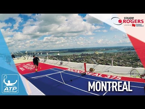 Thiem And Nadal Visit Montreal's Olympic Stadium 2017