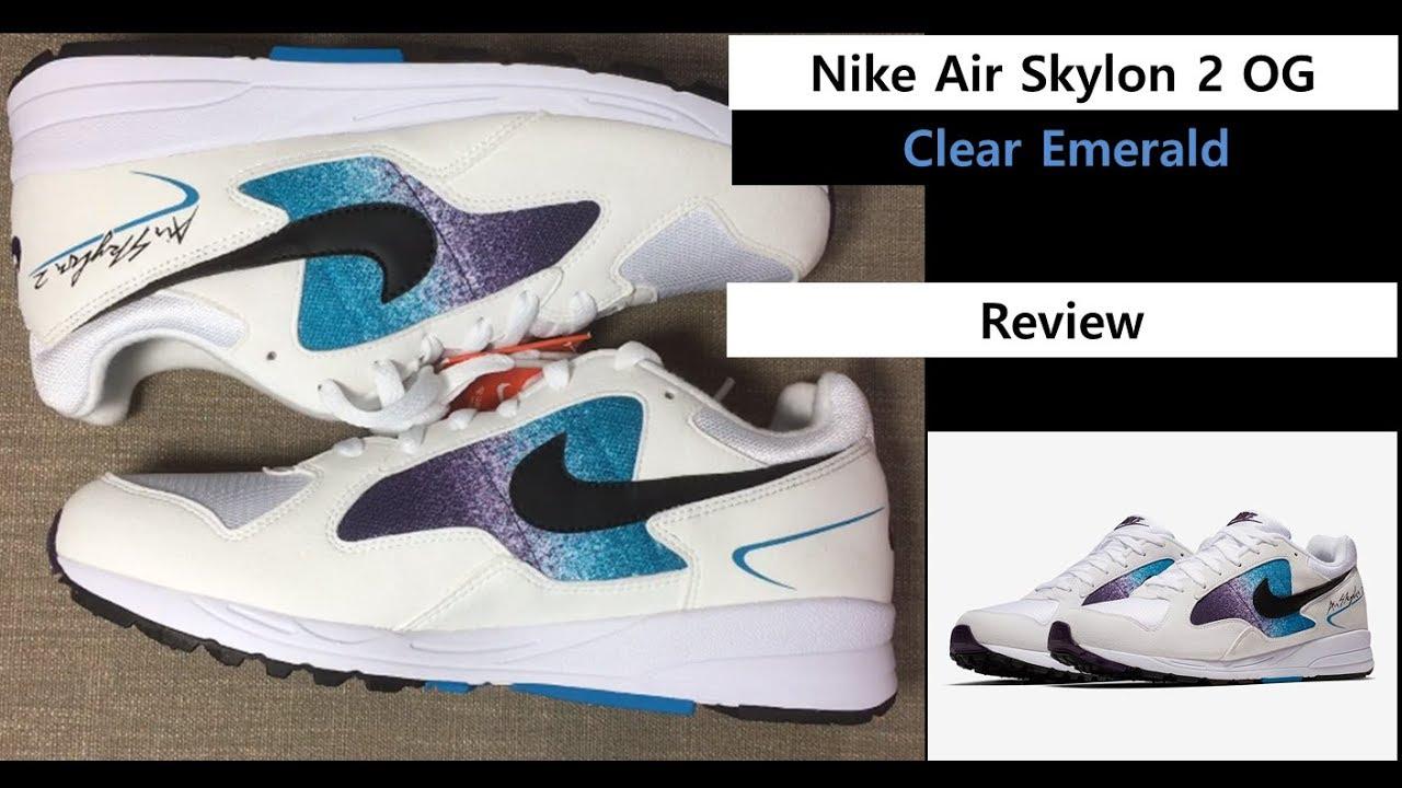"""다시 돌아온걸 환영해 나이키 에어스카이론2 OG! - Welcome back! Nike Air Skylon 2 OG """"Clear  Emerald"""" AO1551-100 7580bae11941"""
