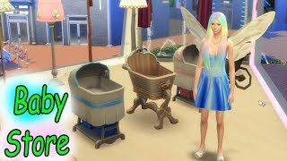 Baby Store Shopping + Restaurant ! Fairy Fantasy SIMS 4 Game Let's Play Dating Video