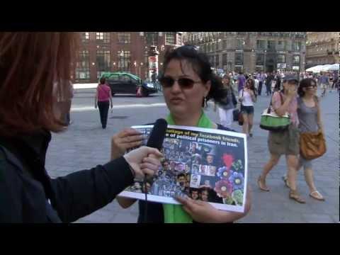 Menschenrechtsverletzungen im Iran — Demonstration auf dem Stephansplatz