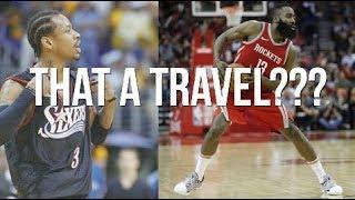 James Harden Step Back A Travel?? Allen Iverson Asks the Kids...