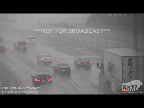 1-12-2018 Cincinatti, OH Heavy Snow Begin to Fall Near I-74 Trucks Work To Salt Roads
