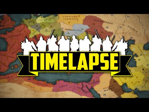 Attila Total War - TimeLapse (Ai Only) 300 Turns  
