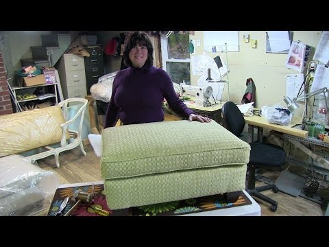 """upholstery-""""how-to-reupholster-a-pillowtop-ottoman"""""""