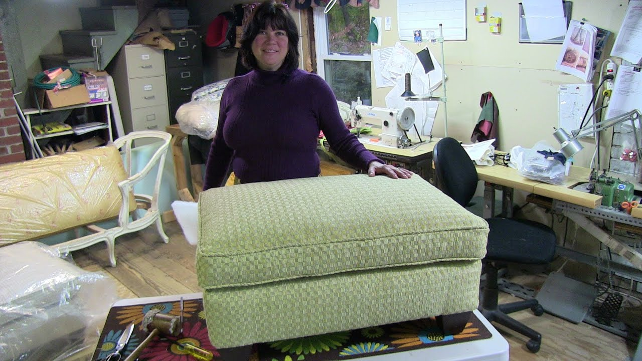 Upholstery How To Reupholster A Pillowtop Ottoman