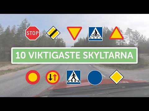 Ta Körkort - 10 Vanligaste Skyltarna
