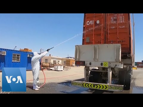 Cargo Shipments Disinfected at Iraq Port